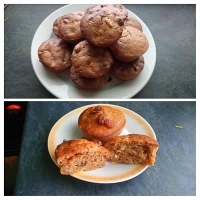Almás-túrós muffin