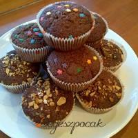 Csupacsokis muffin egyszerűen (tejmentes)