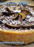 Szilvatorta - sütés nélkül (Gluténmentes)