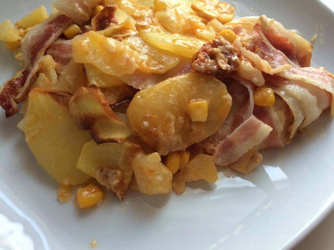 Ananászos baconös rakott krumpli főfotó