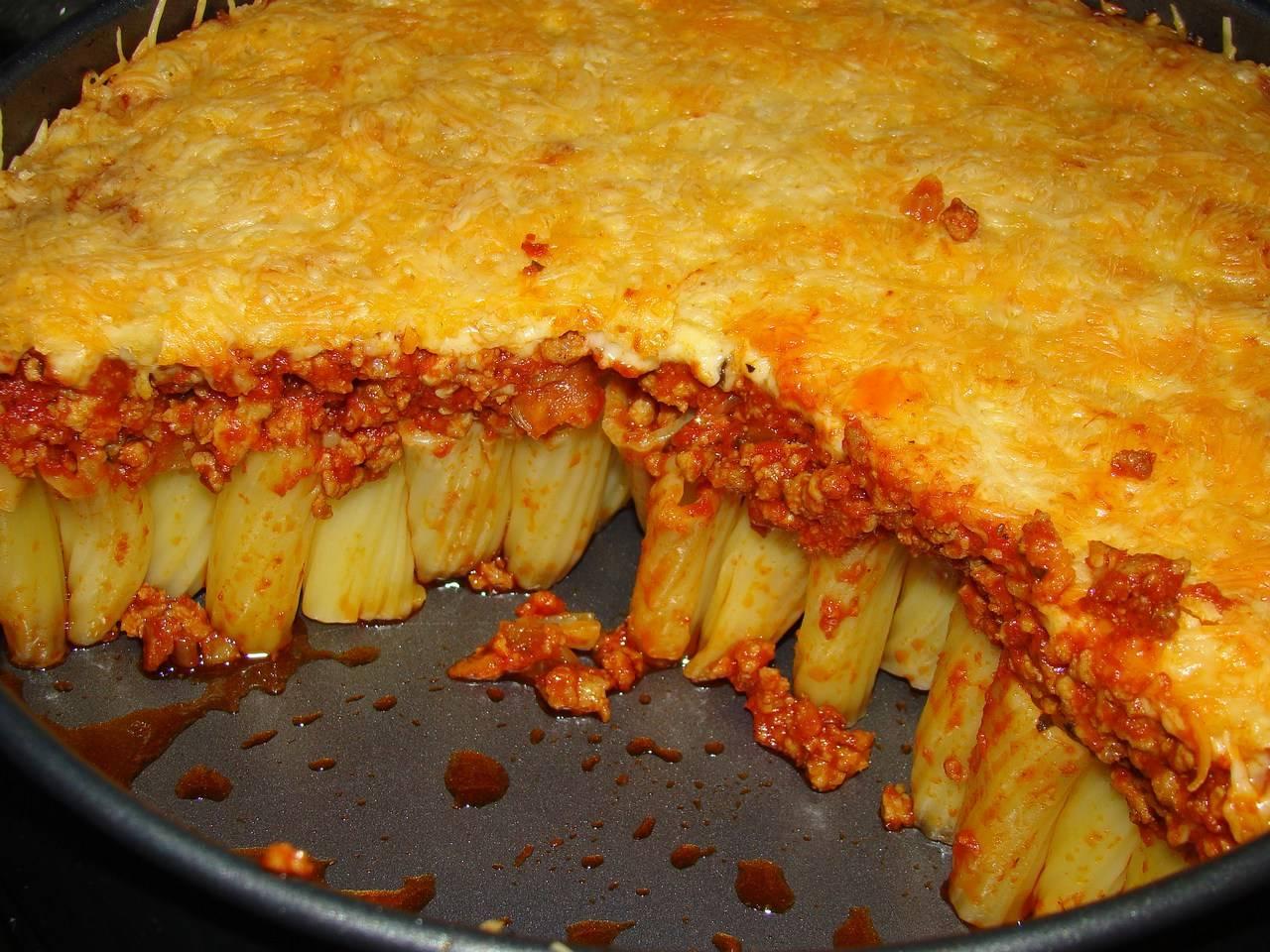 Húsos, rakott rigatoni recept főfotó