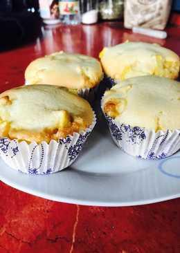 Vaníliás, töltött muffin