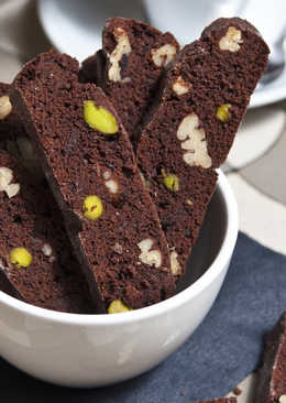 Csokoládés-pisztáciás biscotti