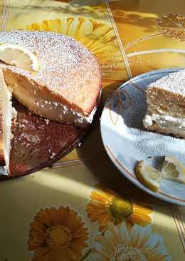 Citromhabos finom bögrés süti