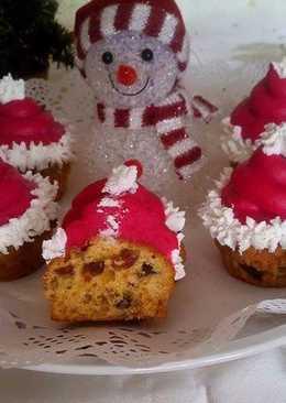 Püspökkenyér muffin, mascarponés krémmel
