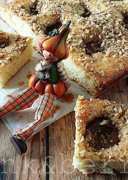 Szilvás-diós sütemény