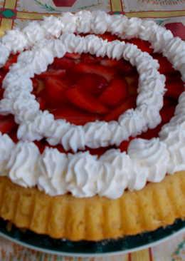 Epres gyümölcsös torta