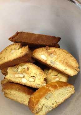 Mandulás-diós cantuccini - mandulás-diós keksz