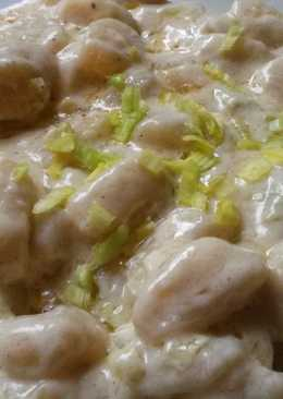 Tejszínes sajtos gnocchi