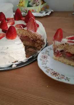 Epres-nutellás mascarpone krémes torta