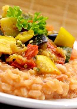 Zöldséges (ratatouille) rizottó