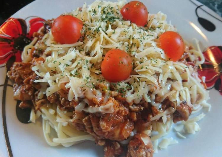 Gombás bolognai spagetti
