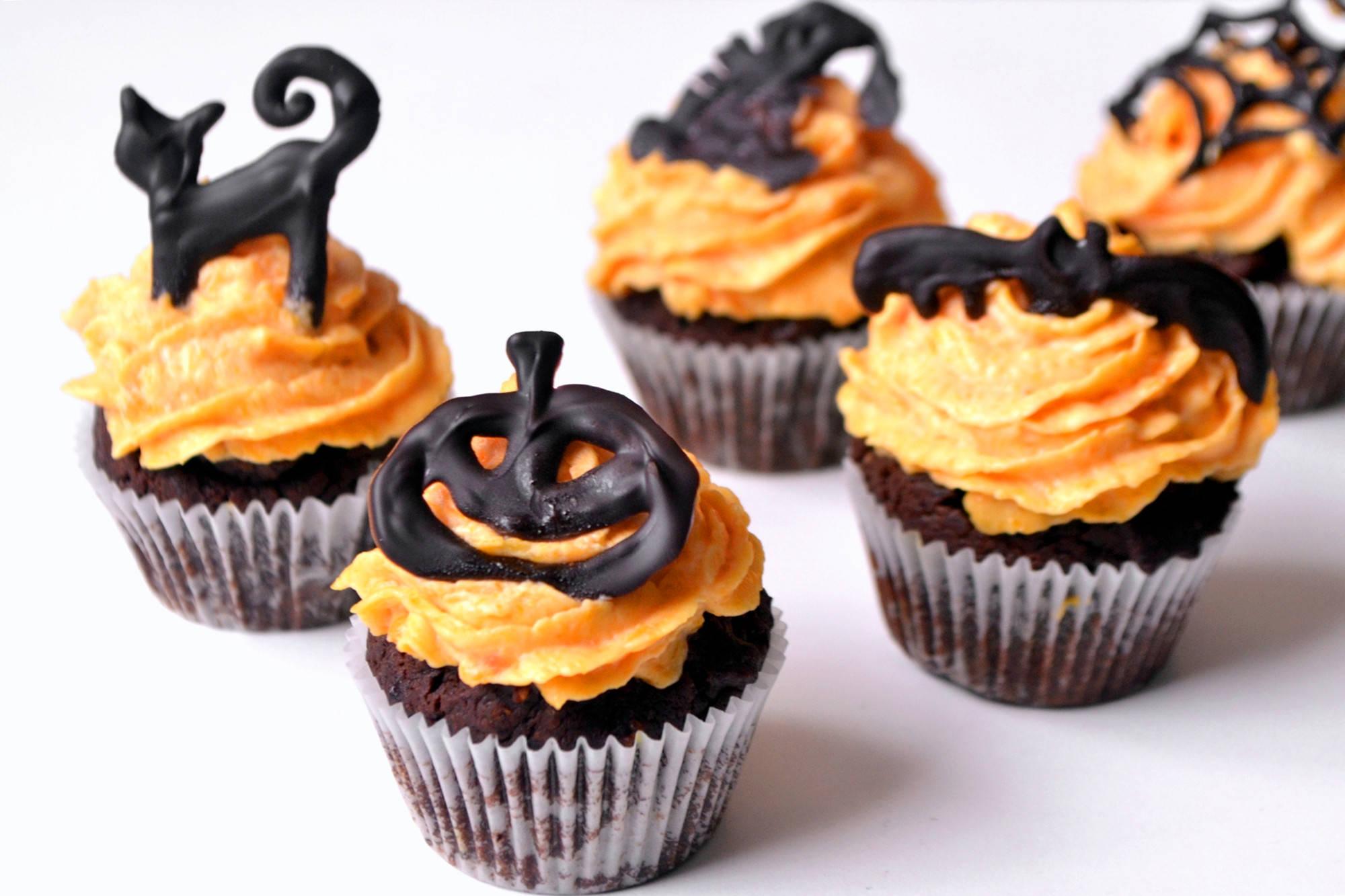 Halloween mini cupcake recept főfotó