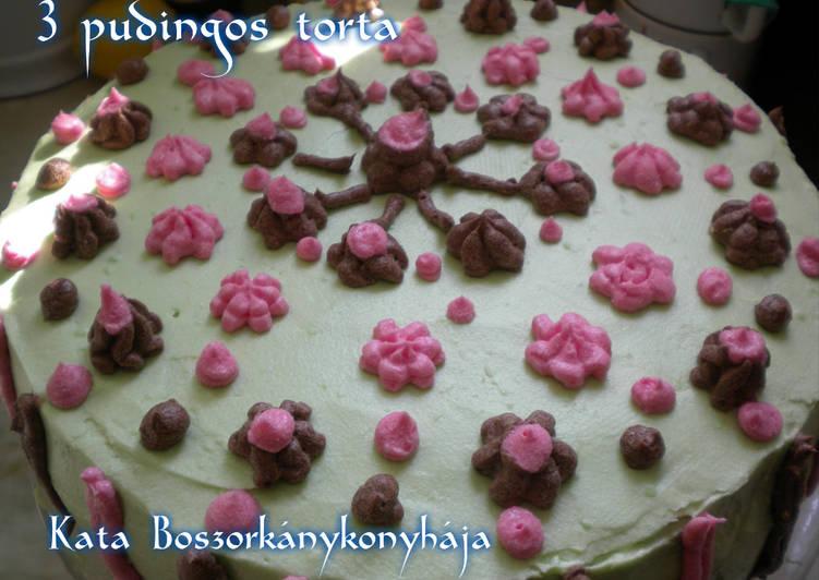 3 pudingos torta (Gluténmentesen is)