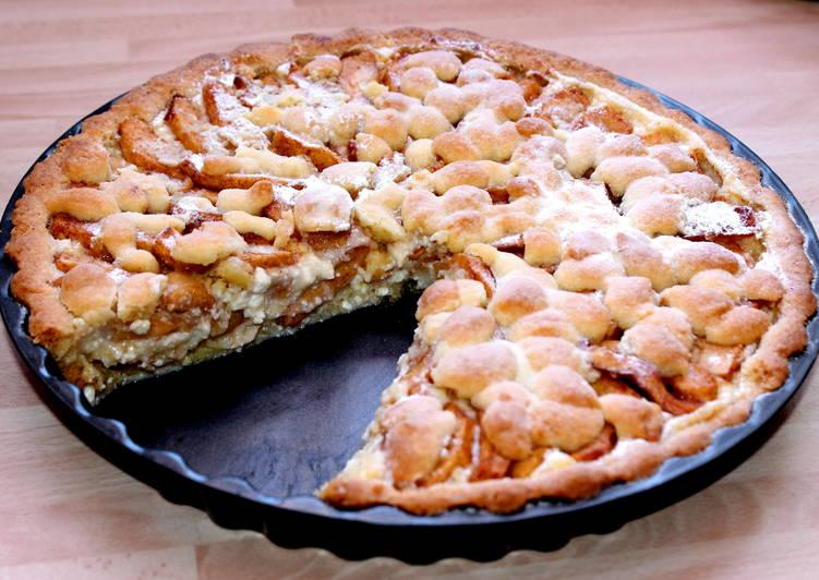 Túrókrémes almás pite