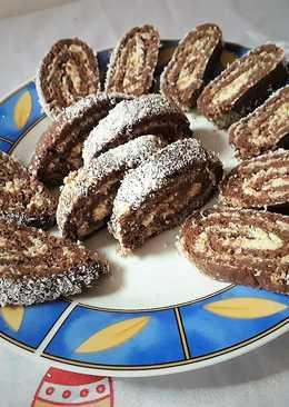 Kókuszrúd keksztekercs ünnepi süti