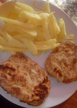 Zsírmentes rántott karaj és sült krumpli!