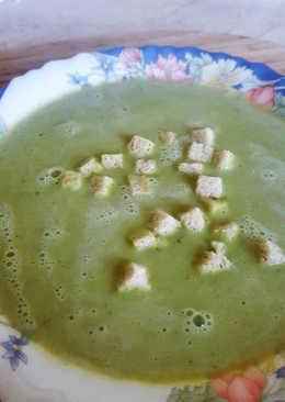 Kelbimbós brokkolis zöldborsós krémleves