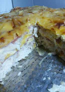 Sonkás-sajtos csirkemell