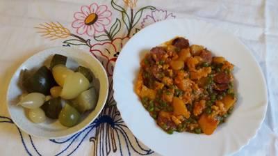 Zöldborsós krumpli-nokli