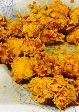 Tortilla chipses csirkefalatok tartár mártogatóssal