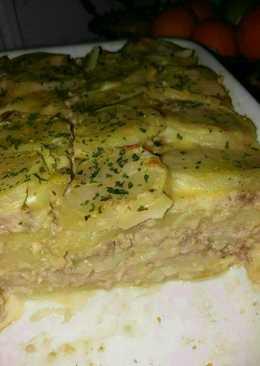 Palacsinta tésztás rakott krumpli