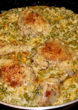 Krémes zöldborsós csirkecomb