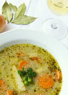 Mustáros zöldségleves