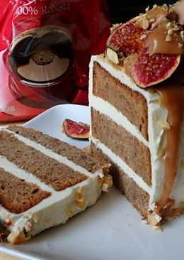 Datolyás-fügés mogyorós torta