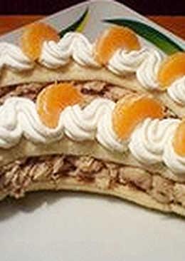 Tejszínhabos banán desszert