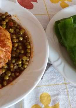 Borsópaprikás csirkehússal