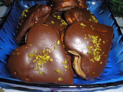 Mézes-csokis szivek