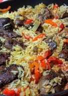 Rizses-lecsós csirkemáj