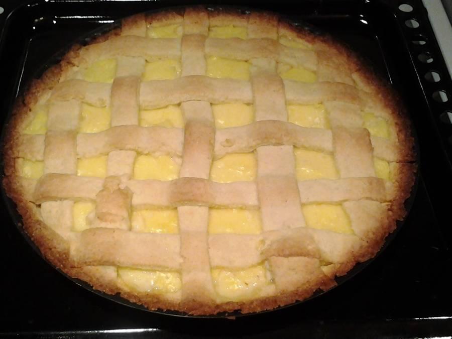 Almás-pudingos rácsos pite recept főfotó