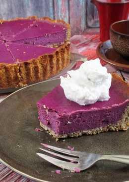 Lila édesburgonyás pite