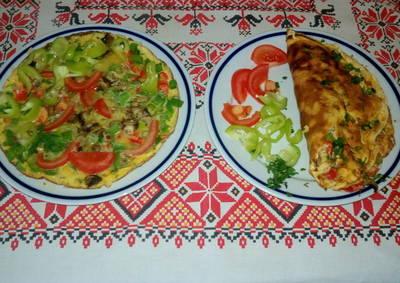 Tavaszias gombás omlett, kedvedre