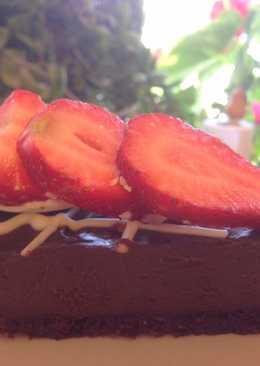 Reform csokoládés pite recept eperrel