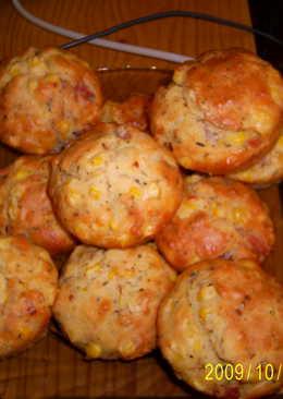 Kukoricás-sonkás muffin