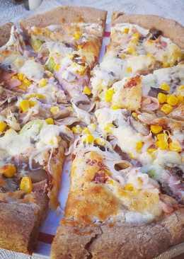 Teljeskiőrlésű pizzatészta