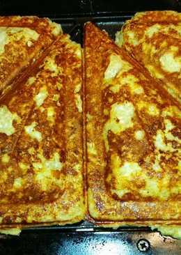 Diétás túrós párna, szendvicssütőben sütve