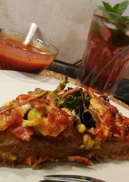 Fittness pizza házi paradicsom szósszal #pizza