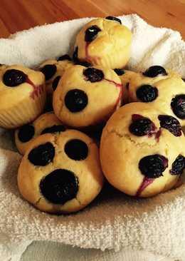 Joghurtos-áfonyás muffin