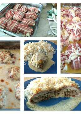 Fincsi sajttal töltött baconös batyuk