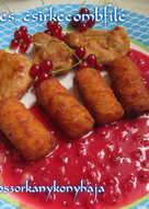 Ribiszkés csirkecombfilé