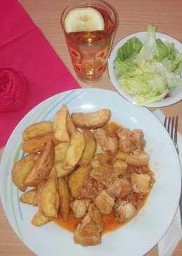Csülök pörkölt, fűszeres steak burgonyával! Ecetes salátával 😉