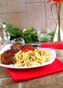 Marhapofa pörkölt PaleoLét friss házi spagettivel