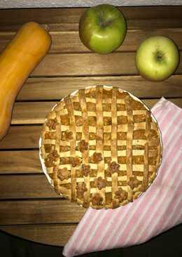 Sütőtökös, almás pite