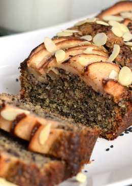 Szezámmagos mandulás almás süti