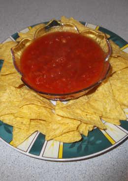 Házi salsa szósz, tortillához mártogatósnak