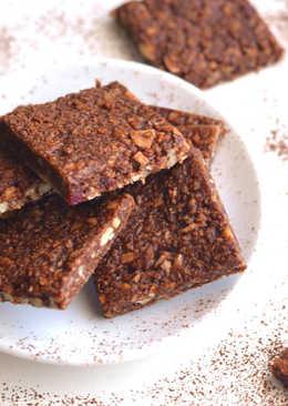 Sütés nélküli csokis mogyoróvajas szelet